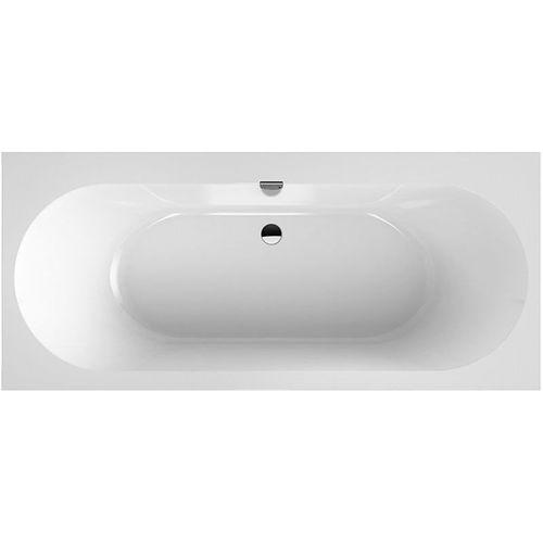 OBERON 2.0 ванна 170*75см, квариловая с ножками и сливом-переливом