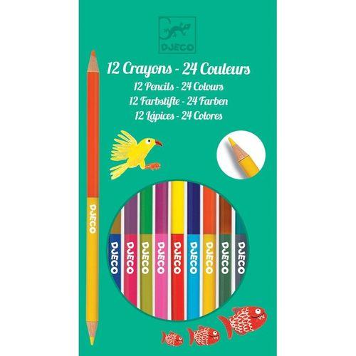 купить Набор из 12 двусторонних цветных карандашей в Кишинёве