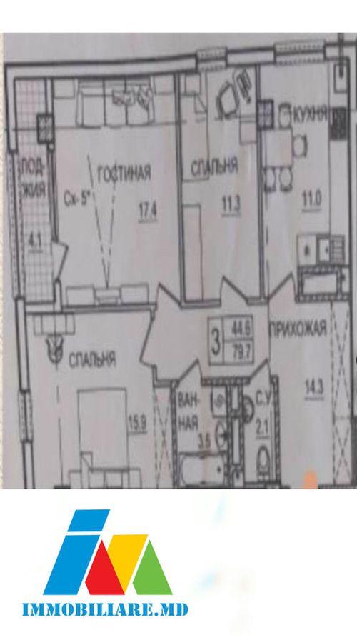 Apartamente cu 3 camere. Sectorul Botanica, str. Tudor Strişcă.