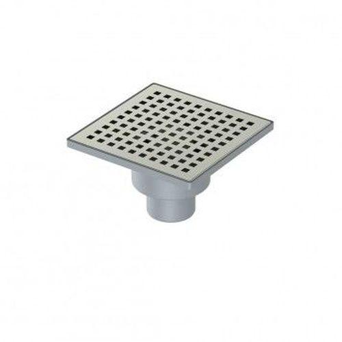 Трап  пластиковый с решеткой из нержавеющей стали, выход вертикальный - 110 мм