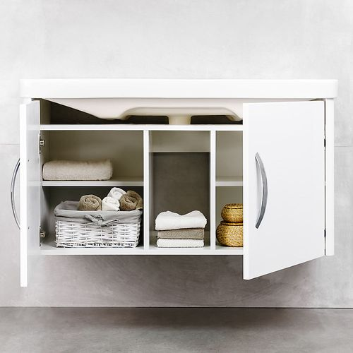 купить Vista Шкаф белый хром под умывальник Luxor 1050 Подвесной в Кишинёве