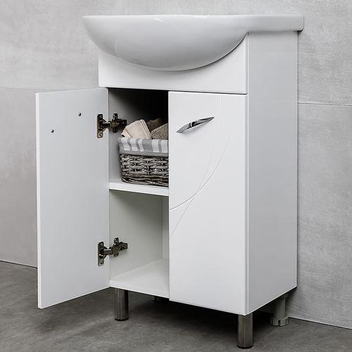 купить Premium Шкаф Премиум белый Pro под умывальник Ladoga 500 в Кишинёве