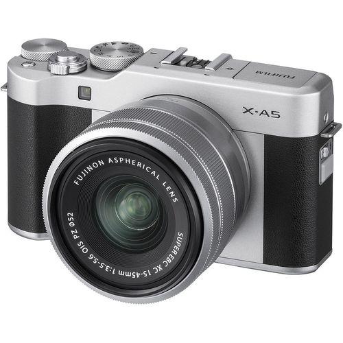 купить Fujifilm X-A5 Silver XC15-45mm kit, Mirrorless Digital Camera X System ( Aparat fotografic ) в Кишинёве