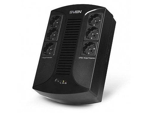 купить SVEN UP-L1000E Line-Interactive, 1000VA/510W, AVR, Input 175~290V, Output 230V -14/+10%, 6 Schuko Sockets, (UPS, sursa neintreruptibila de energie/ ИБП источник бесперебойного питания) в Кишинёве