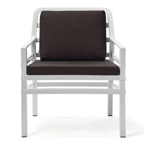 купить Кресло с подушками Nardi ARIA BIANCO caffe 40330.00.165.165 (Кресло с подушками для сада и терас) в Кишинёве