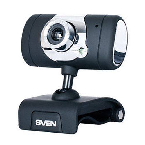 cumpără Camera SVEN IC-525, Microphone, 0.3Mpixel - 8Mpixel, 5G glass lens, hinge for easy camera rotation at any angle, UVC, USB2.0, Black în Chișinău