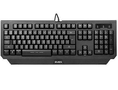 купить Gaming Keyboard SVEN Challenge 9300 black, 3 variable backlight colors, USB, gamer (tastatura/клавиатура), www в Кишинёве