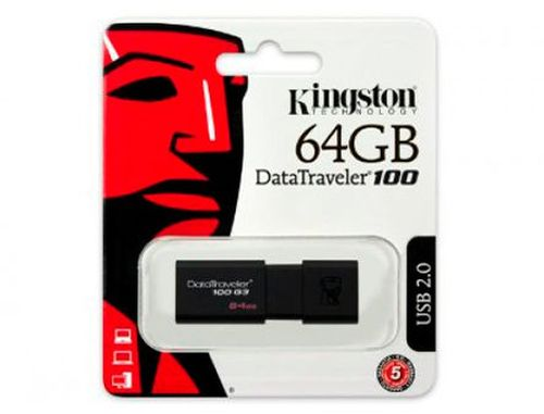 купить 64GB USB Flash Drive Kingston DT100G3/64GB DataTraveler 100 G3, USB 3.0 (memorie portabila Flash USB/внешний накопитель флеш память USB) в Кишинёве