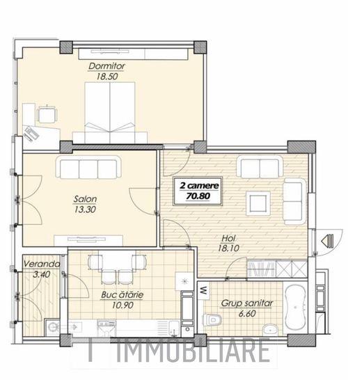 Apartament cu 2 camere, set. Botanica, bd. Decebal.
