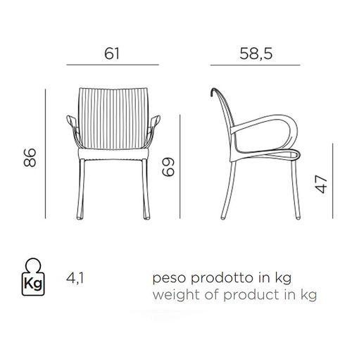 купить Кресло Nardi DAMA BURRO vern. burro 61658.28.000 (Кресло для сада и террасы) в Кишинёве