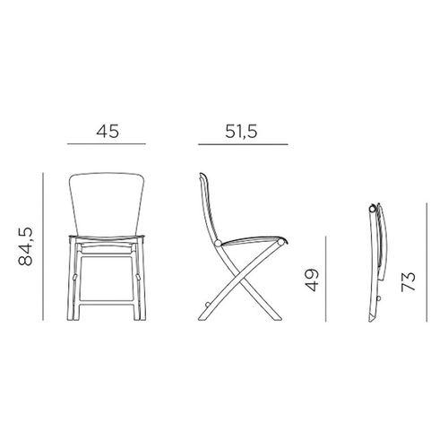 купить Стул складной Nardi ZAC CLASSIC GRIGIO 40324.03.000 (Стул складной для сада и террасы) в Кишинёве