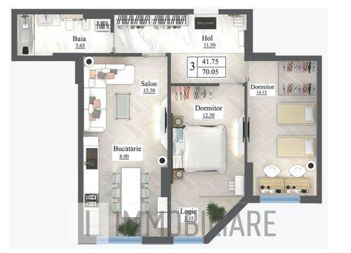 Apartament cu 3 camere, sect. Buiucani, str. Ioana Radu.