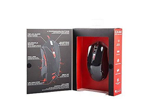 купить Genesis GX44 Optical Gaming Mouse, 6 programmable buttons, 4 backlight colors, 2500dpi, 4500fps, 30ips, 1000Hz, 2m, USB (mouse/мышь) в Кишинёве