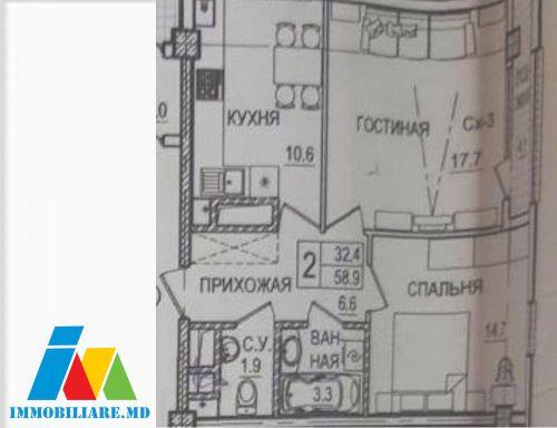 Apartamente cu 2 camere, sec. Botanica, str.Tudor Strișcă.