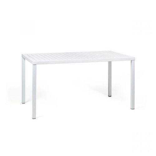 купить Стол Nardi CUBE 140x80 BIANCO vern. bianco 47753.00.000 (Стол для сада террасы балкон) в Кишинёве