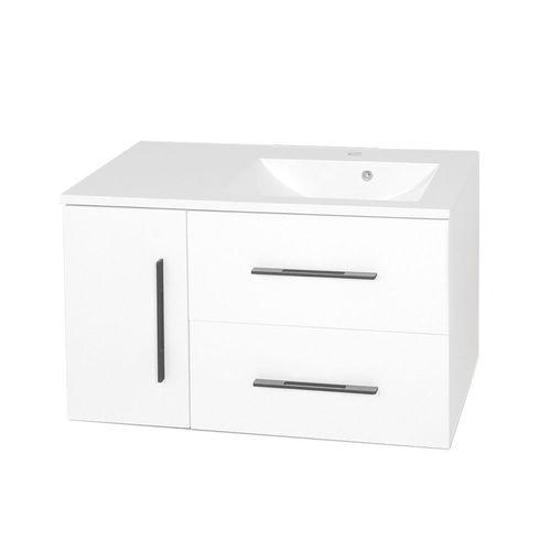 купить Suprem Шкаф белый black с умывальником Amaris 900 в Кишинёве