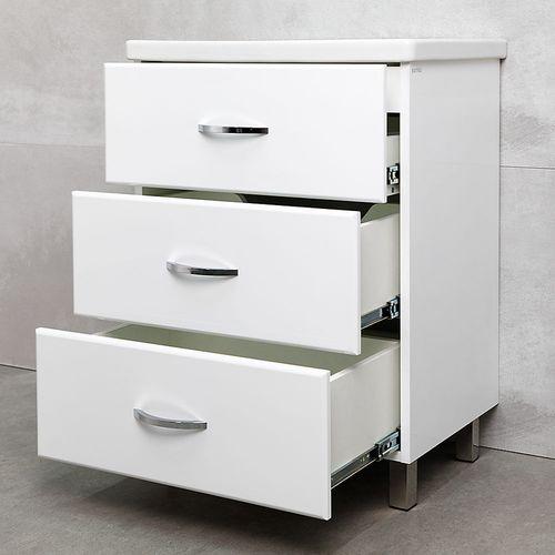 купить Novo Шкаф белый с умывальником Soft 650 в Кишинёве