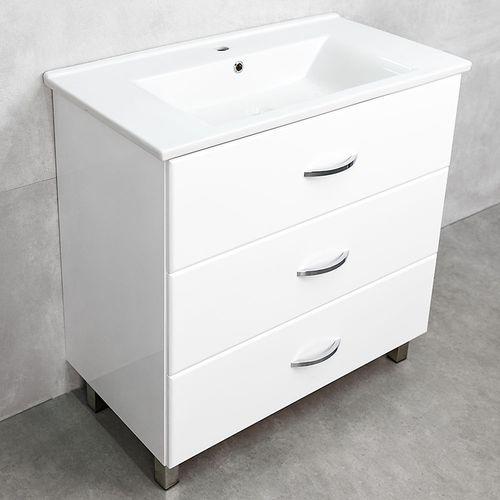 купить Novo Шкаф белый с умывальником Atria 850 в Кишинёве