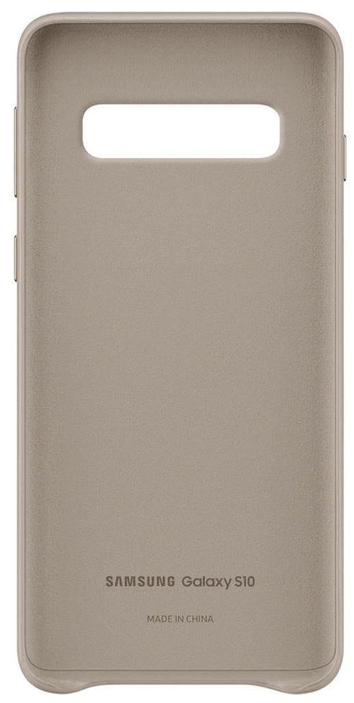 купить Чехол для моб.устройства Samsung EF-VG973 Leather Cover S10 Gray в Кишинёве