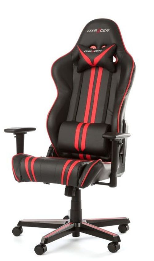 купить Gaming Chairs DXRacer - Racing GC-R9-NR-Z1, Black/Red/Black - PU leather, Gamer weight up to 100kg / growth 165-195cm, Foam Density 50kg/m3, 5-star Aluminum IC Base, Gas Lift 4 Class, Recline 90*-135*, Armrests: 3D, Pillow-2, Caster-2*PU, W-23kg в Кишинёве