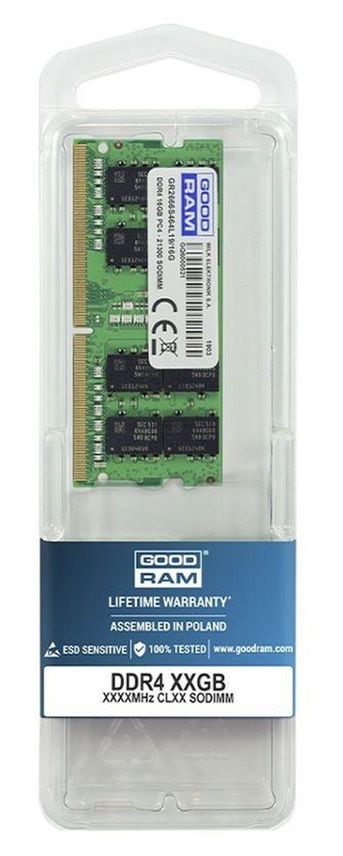 cumpără 16GB DDR4-2666 SODIMM  GOODRAM, PC21300, CL19, 1024x8, 1.2V în Chișinău