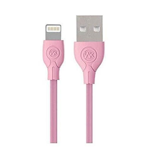 купить Кабель для моб. устройства WK Design WDC-041 Ultra Speed Data Lightning Pink в Кишинёве