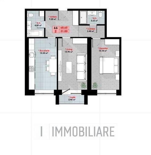 Apartamente cu 2 camere, sect. Ciocana, str. Bucovinei.