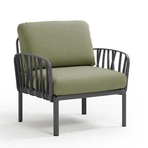 купить Кресло с подушками для сада и терас Nardi KOMODO POLTRONA ANTRACITE-giungla Sunbrella 40371.02.140 в Кишинёве