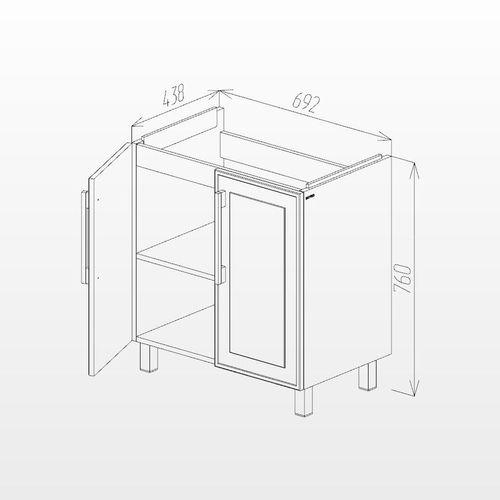купить Шкаф Porto белый структурный дуо про под умывальник Stance 700 в Кишинёве
