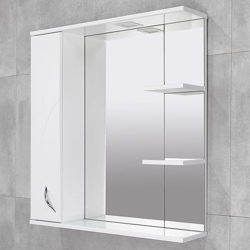 купить Premium Шкаф-зеркало белый 800 L в Кишинёве