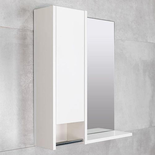 купить Selena Шкаф-зеркало белый структурный 600 L в Кишинёве