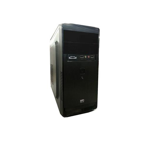 cumpără Carcasa PC Case Miditower mATX HPC D-03 Shiny Black, 500W, 12cm fan, 24 pin, 2xSATA cables, 2xUSB 2.0 & Audio (carcasa/корпус) în Chișinău