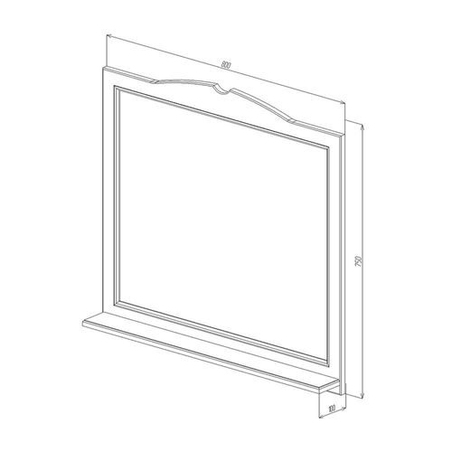 купить Classic One Зеркало белое 800 в Кишинёве