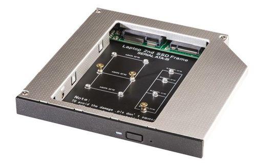 купить ODD 12.7mm SATA 2nd HDD SSD Hard Drive Universal Caddy for mSATA or M.2 SSD в Кишинёве