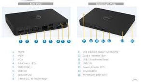 купить Dell USB Type-C Dock WD15 with 180W Adapter - 1*HDMI, 1*miniDP, 1*VGA, 1*RJ-45, 2*USB 2.0, 3*USB 3.0 в Кишинёве