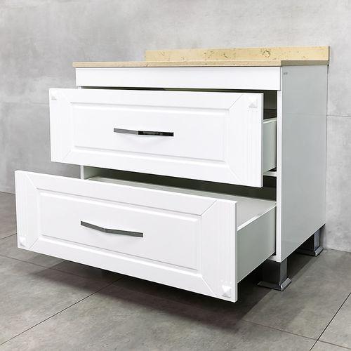 купить Palermo Шкаф белый 954 кварц с плинтусом Olimpia с умывальником Berta 970x570/550х460 в Кишинёве