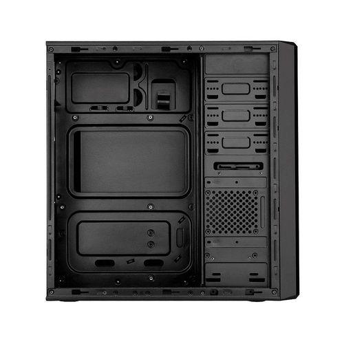 купить Case Miditower ATX Sohoo 5907BG Black-Green, 500W, 12cm fan, 24 pin, 2xSATA cables, 2xUSB 2.0 & Audio (carcasa/корпус) в Кишинёве