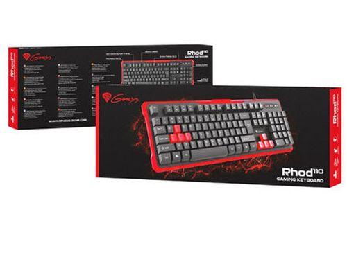 купить Клавиатура Genesis RHOD 110 Gaming Keyboard, Additional Keys, USB, gamer (tastatura/клавиатура) в Кишинёве