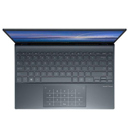 "купить Ноутбук 14"" ASUS ZenBook 14 UX425EA Pine Grey, Intel i5-1135G7 2.4-4.2Ghz/8GB/SSD 512GB M.2 NVMe/Intel Iris Xe Graphics/WiFi 6 802.11ax/BT5.0/HDMI/HD WebCam/Illum. Keyb./Number Pad/14"" IPS LED Backlit FullHD NanoEdge (1920x1080)/Windows10 UX425EA-HM053T в Кишинёве"