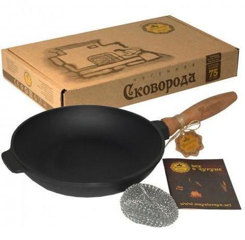 купить Сковорода чугунная c деревянной ручкой, 24 см в Кишинёве