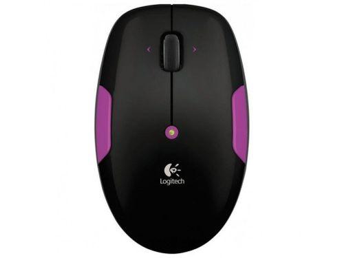 купить Mouse Logitech Wireless M345 Petal Pink, Optical Mouse for Notebooks, Nano receiver, Black, USB, Retail в Кишинёве