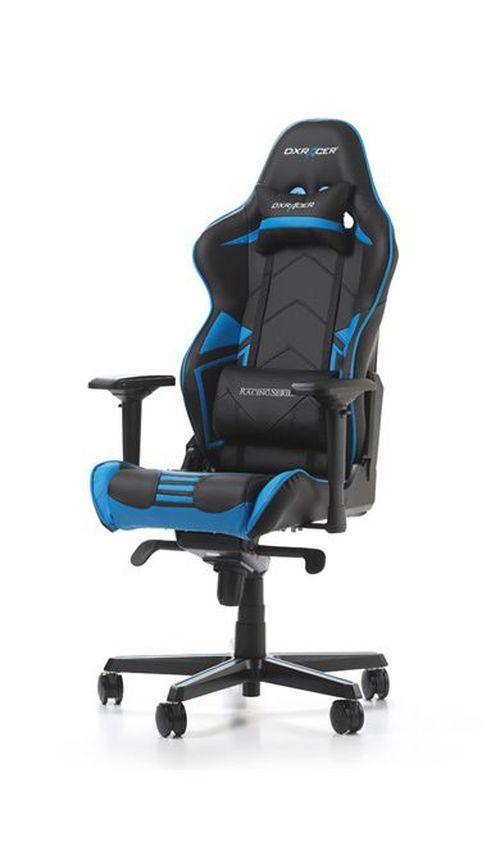 cumpără Gaming Chairs DXRacer - Racing PRO GC-R131-NB-V2, Black/Black/Blue - Carbon Look Vinyl & PU,Gamer weight up to 115kg / growth 165-195cm,Foam Density 50kg/m3,5-star Alum IC Base,Gas Lift 4 Class,Recline 90*-135*,Armrests:4D,Pillow-2,Caster-3*PU,W-26kg în Chișinău