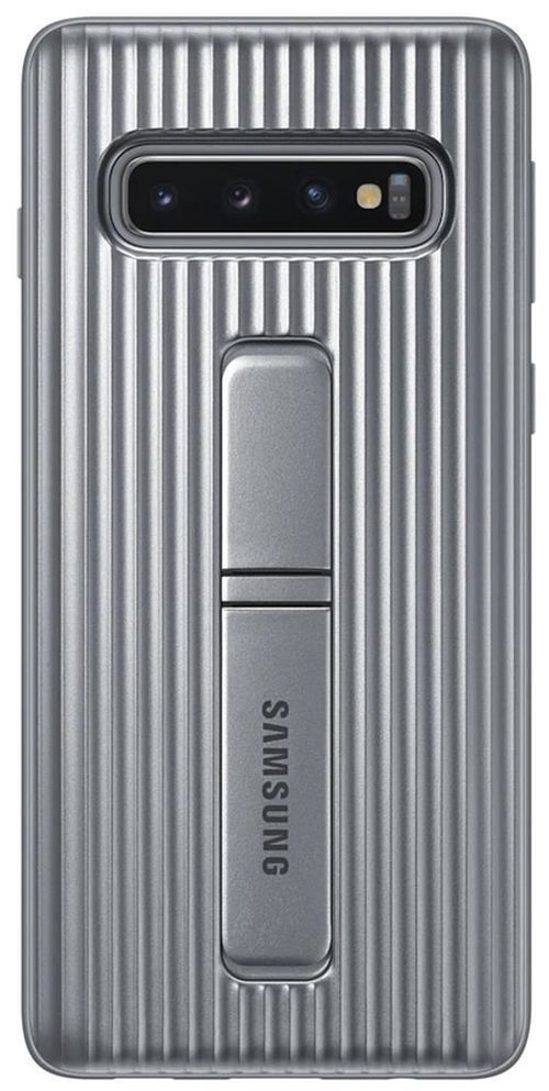 cumpără Husă pentru smartphone Samsung EF-RG973 Protective Standing Cover S10 Silver în Chișinău