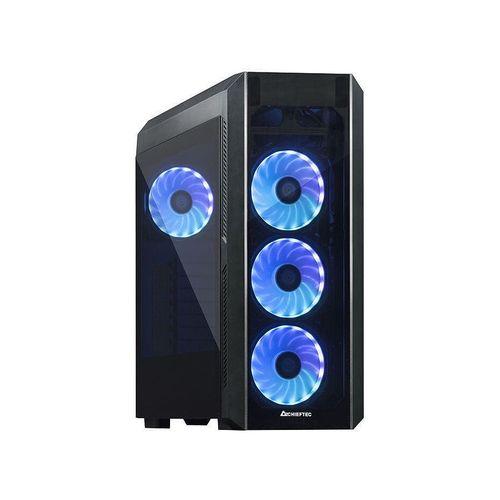 купить Case ATX Miditower Chieftec Gaming Scorpion III GL-03B-OP Black no PSU, 2x USB 3.1, 1x USB 2.0, Audio-out, 4x 120mm A-RGB Rainbow LED fan, 2 tempered glass, RGB Control HUB, (carcasa/корпус) в Кишинёве