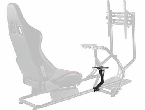 купить Lumi Classic Racing Simulator Cockpit Seat LRS03-BS with Monitor & Gear Shifter Mount, Black/Red, Seat Width: 450mm, Seat Gliding Track 180mm, Seat Back Tilt Range 30°~90°, Steering Wheel Panel Tilt Range: +25°~-35°, Pedal Panel Tilt Range: 0°/15°/27° в Кишинёве
