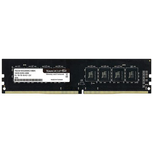 купить 16GB DDR4 Team Elite 16GB DDR4 (TED416G2666C1901) PC4-21300 2666MHz CL19, Retail (memorie/память) в Кишинёве