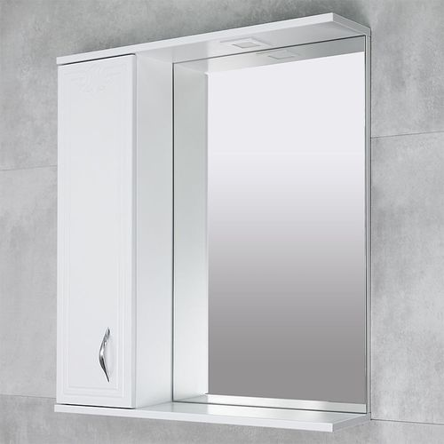 купить Deco One Шкаф-зеркало белый 750 L в Кишинёве