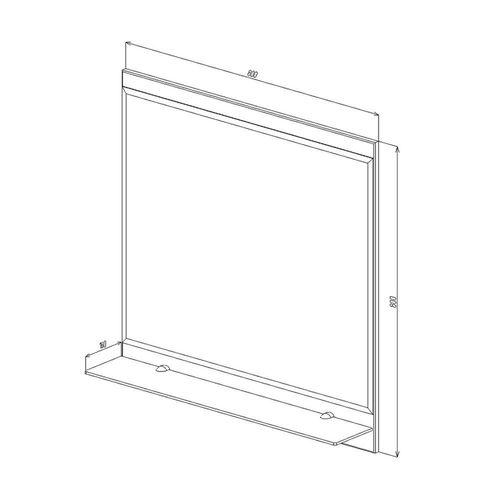 купить Proxima Зеркало белое 800 в Кишинёве