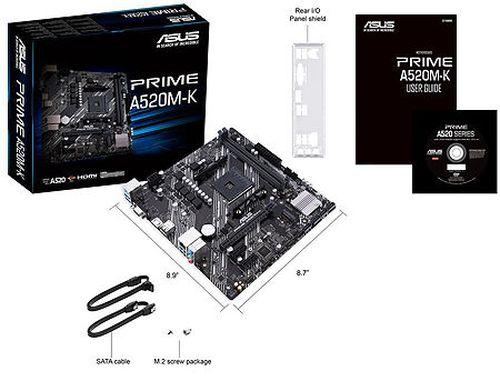 купить Материнская плата ASUS PRIME A520M-K AMD A520, AM4, Dual DDR4 4600MHz, PCI-E 3.0 x16, D-Sub/HDMI 2.1, USB 3.2, SATA RAID 6Gb/s, M.2 x4 Socket, SB 8-Ch., GigabitLAN, LED lighting, (placa de baza/материнская плата) в Кишинёве