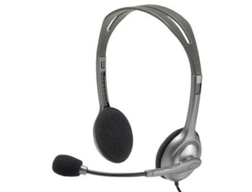 купить Logitech H110 Grey Stereo Headset, Headset: 20Hz-20kHz, Microphone: 100Hz-16kHz, 2m cable, 2 x mini-jack 3.5mm 981-000271 (casti cu microfon/наушники с микрофоном) в Кишинёве
